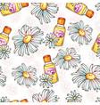 daisy flower seamless pattern spa cosmetics vector image