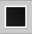 paper square frame isolated on transparent vector image
