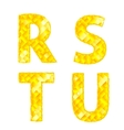 Diamond letters R S T U vector image