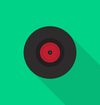 Vinyl record icon flat design vector image