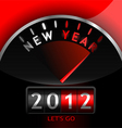 2012 counter on dashboard vector image vector image
