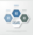 3 modern and clean hexagon design elements vector image vector image