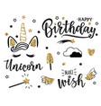 a happy birthday set vector image