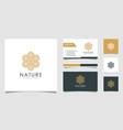 abstract elegant flower logo icon design vector image vector image