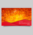abstract mosaic banner with square shapes vector image vector image