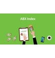 abx index with business man working vector image vector image