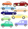 beautiful retro cars vector image