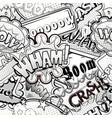 black and white comics speech bubbles vector image