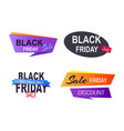 black friday sale badges on vector image vector image