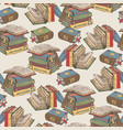 books seamless pattern vector image