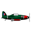 british ww2 fighter on white vector image vector image
