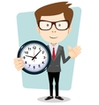 Businessman and clock format vector image