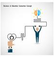 Businessman and creative light bulb vector image