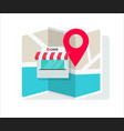 cafe shop or store location with pin pointer and vector image vector image