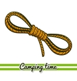 Camping Equipment Rope vector image