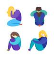 cartoon flat of depression vector image