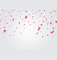 celebration background template with confetti and vector image vector image