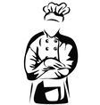 Chef folded arms vector image