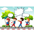 Children playing music in the band vector image vector image