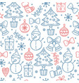 christmas pattern winter season graphic vector image