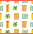 christmas semless pattern with gift box vector image