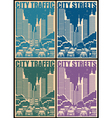 city streets retro posters vector image vector image