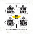 craft beer brewery artisan creative stamp vector image
