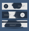 creative grunge blue texture banner vector image vector image