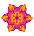 cute flower icon vector image vector image