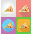 fast food flat icons 12 vector image