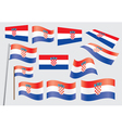flag of Croatia vector image vector image