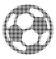 football ball halftone icon vector image