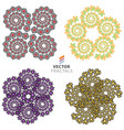 fractal set vector image