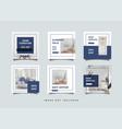 furniture social media feed post promotion design vector image vector image