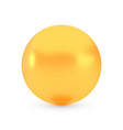 golden sphere award concept shiny realistic vector image