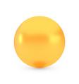 golden sphere award concept shiny realistic vector image vector image