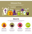 Halloween Party Web Design Template vector image vector image