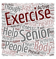 Health And Fitness For People Above text vector image vector image