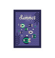 hello summer time banner template trendy seasonal vector image
