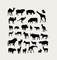 Herbivorous Silhouettes vector image vector image