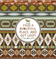Hipster seamless aztec pattern with geometric vector image