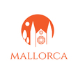 icon of mallorca vector image
