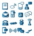Icon set of telecommunication vector image vector image