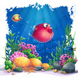 image background the marine life landscape vector image vector image