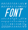 Italic Font family and Alphabet Font Design vector image vector image