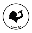 Karaoke womans silhouette icon vector image vector image