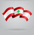 Lebanese waving Flag vector image