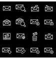 Line email icon set