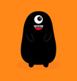 monster black silhouette fang tooth open mouth vector image
