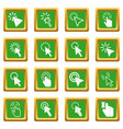 Mouse pointer icons set green